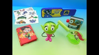 2017 TEEN TITANS GO! TRICKS SET OF 6 SONIC DRIVE IN KIDS MEAL TOYS VIDEO REVIEW
