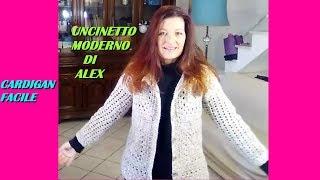 Giacchino Cardigan Angelina Uncinetto Per Ogni Taglia Facile Alex