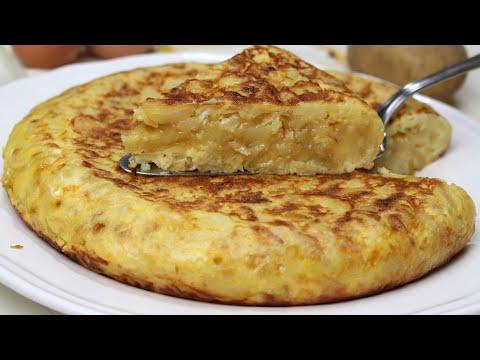 Tortilla de patata con cebolla caramelizada y queso de cabra ¡DELICIOSA!