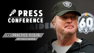 Coach Gruden on Facing the Bengals & Dion Jordan's First Practice | Raiders