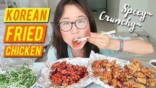 KFC MUKBANG Spicy & Crispy Korean Fried Chicken