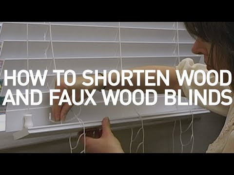 How to Shorten Wood and Faux Wood Blinds - Blinds.com DIY