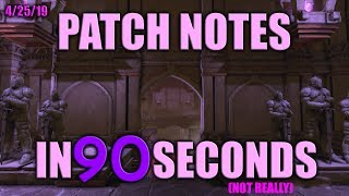 Neverwinter Patch Notes in 90 Seconds - 4/25/19 Maintenance
