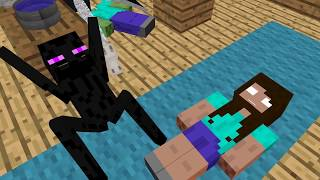 Monster School: Animal Riding Challenge  - Minecraft Animation