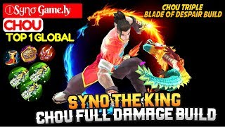 Syno The King, Chou Full Damage Build [ Top 1 Global Chou ] ⒾSყɳσ Game.ly Chou Mobile Legends