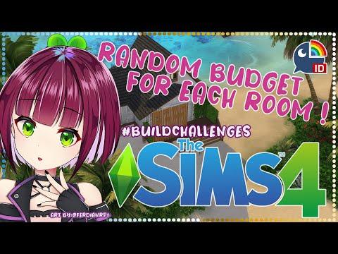 〔The Sims 4〕Random Budget for Each Room #BuildChallenges【NIJISANJI ID | NAGISA ARCINIA】