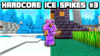 I Got FULL NETHERITE In Hardcore Ice Spikes! (Day 100-150)