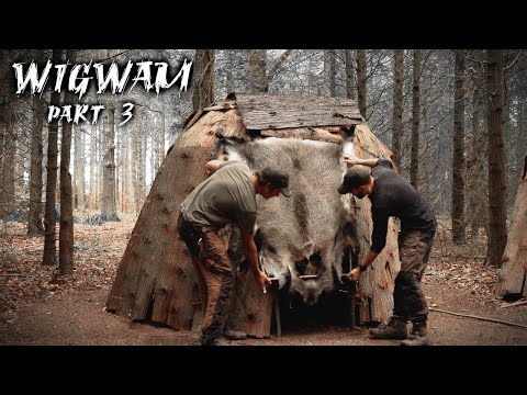 Building a Dome Hut: First Overnight in the Bushcraft Wigwam Shelter (PART 3)