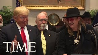 Kid Rock Visits The White House As Trump Signs Royalty Bill | TIME