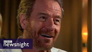 Breaking Bad's BRYAN CRANSTON impersonates Trump - BBC Newsnight