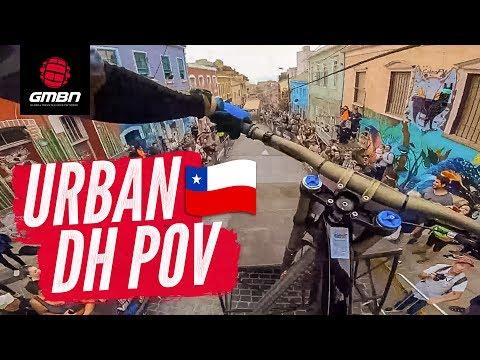 Blake's Urban DH POV | Racing The Valparaíso Cerro Abajo Urban Downhill