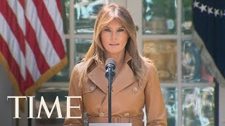 First Lady Melania Trump Participates In An Initiative Launch Event For 'BE BEST'   LIVE   TIME