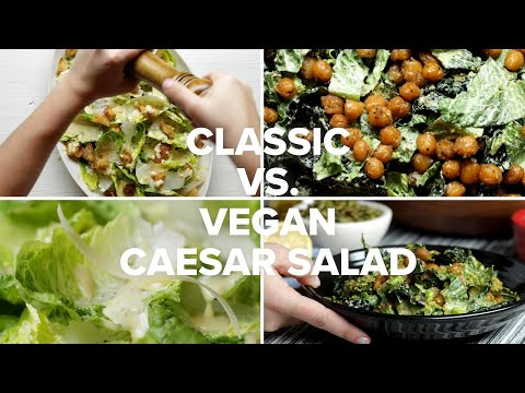 Classic Caesar Salad vs. Vegan Caesar Salad ? Tasty Recipes
