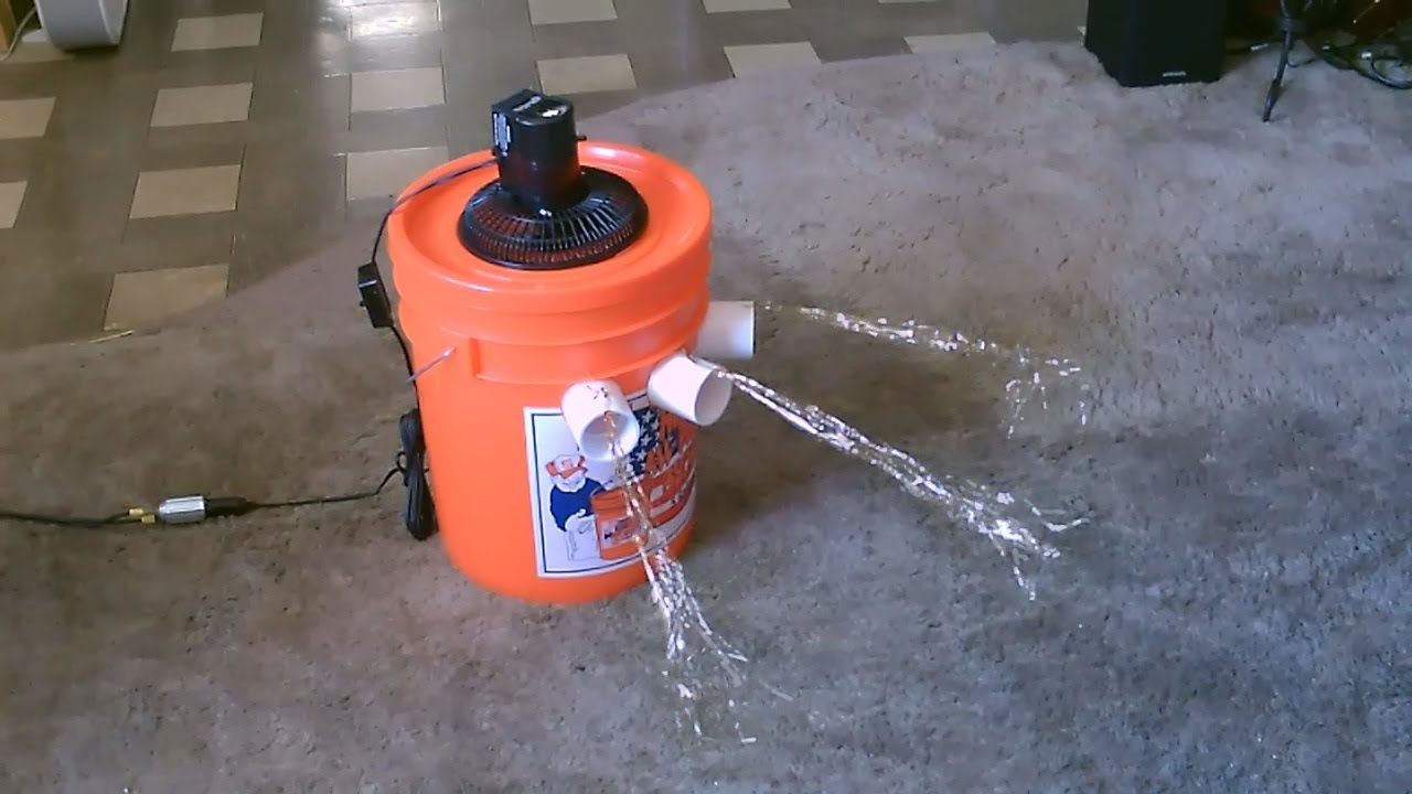 "Ice Chest Air Conditioner Homemade Air Conditioner DIY - The ""5 Gallon Bucket"" Air ..."