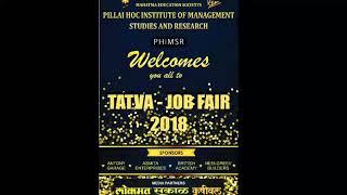 PHIMSR TATVA 2018 JOB FAIR At PILLAI HOC EDUCATIONAL CAMPUS