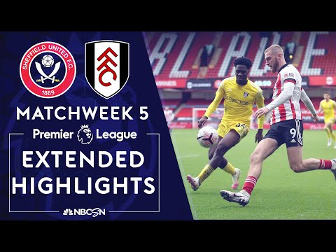 Sheffield United v. Fulham | PREMIER LEAGUE HIGHLIGHTS | 10/18/2020 | NBC Sports