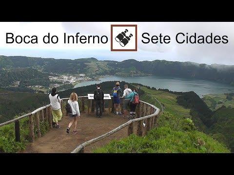 AZORES: Boca do Inferno viewpoint, Sete Cidades - São Miguel Island