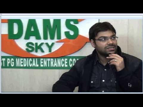 DAMS Student Dr Rahul Baweja Rank 1 AIPG - 2013-14