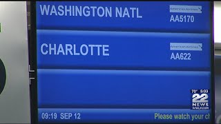 Flights arriving from North Carolina as Hurricane Florence approaches the coast