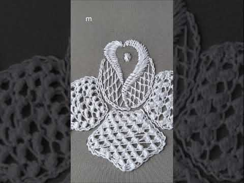 Embroidery lace filling stitches Romanian lace tutorial #shorts