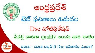 AP TET 2018 RESULTS DSC NOTIFICATION INFORMATION AND ALSO 2016 -18 BATCH DSC ELIGIBILITY