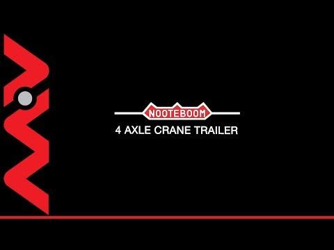 2007 NOOTEBOOM 4 Axle Crane Trailer Cormach 88000-E4