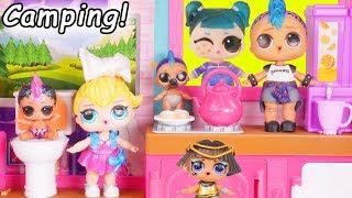 Lil Punk Girl Custom Sister Visit Barbie Camping House + Pharaoh Babe Teenage Boi LOL Surprise Dolls