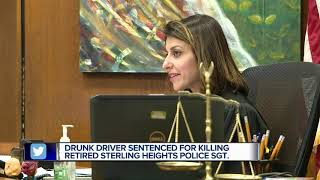 Drunk driver sentenced for killing retired Sterling Heights Police Sgt.