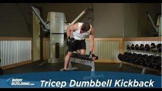 Tricep Dumbbell Kickback - Tricep Exercise - Bodybuilding.com