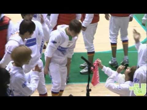 [fancam] 110123 BEAST Dongwoon & SHINee Taemin propose to Key @ Idol Championships