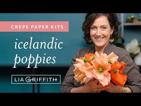 Crepe Paper Icelandic Poppy Flower Kit (full tutorial)