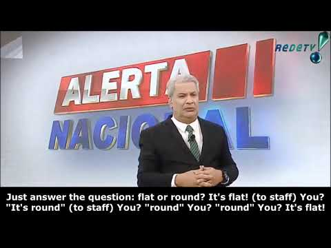 (English subtitled) 2020 Brazil TV Flat Earth survey! ✅