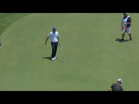 Alex Prugh sinks a long birdie putt at FedEx St. Jude