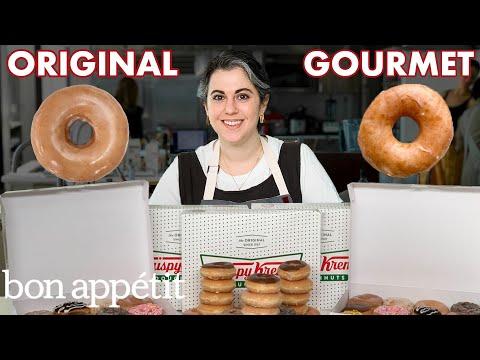 Pastry Chef Attempts to Make Gourmet Krispy Kreme Doughnuts | Gourmet Makes | Bon Appétit