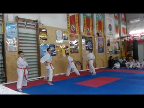 Аттестационный экзамен 29.05.2016 г. по каратэ в клубе Тигренок ч 11