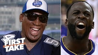 Draymond would be 'eating out of my hands' - Dennis Rodman picks Bulls over Warriors | First Take