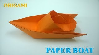How to make a Paper Boat Origami Tutorial (canoe)