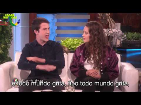 Entrevista Legendada com Katherine Langford e Dylan Minnette de 13 Reasons Why on Ellen
