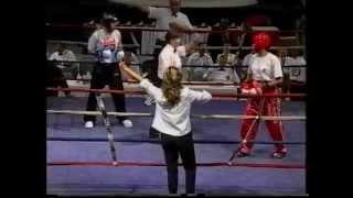 Kate Albrecht Canada vs Fatria Siylmer Turkey 2003 IAKSA World Kickbxong Championships