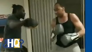 Stephen A. Smith gets in some boxing/MMA training | Highly Questionable