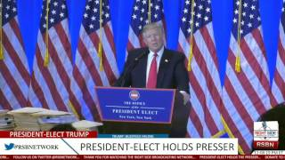 PRESIDENT-ELECT DONALD TRUMP DESTROY'S CNN REPORTER AT PRESS CONFERENCE - MUST SEE.