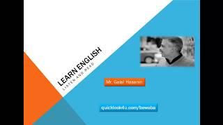 كورس تعليم الانجليزية من خلال الاستماع والنطق حلقة 1