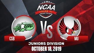 CSB vs. MU | NCAA 95 Jrs Basketball | October 18, 2019