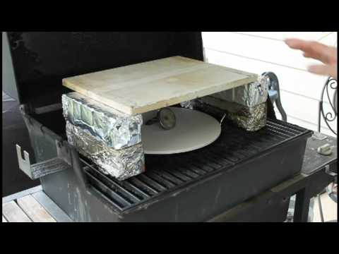 Homemade Brick Oven Pizza On A Gas Grill Youtube