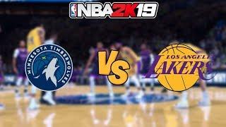 NBA 2K19 - Minnesota Timberwolves vs. Los Angeles Lakers - Full Gameplay (1080P 60FPS HD!)