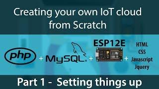 IoT Temperature Sensor - Nodemcu ESP-12E, PHP, Arduino, HTML