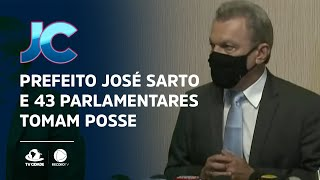 Prefeito José Sarto e 43 parlamentares tomam posse em cerimônia virtual