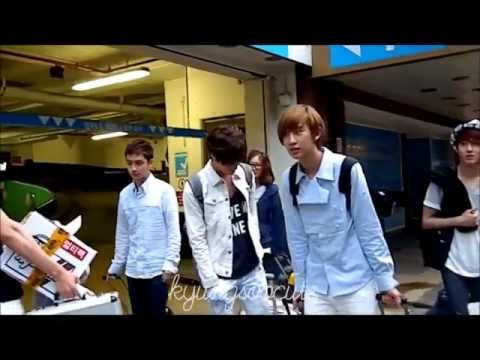 120621 EXO-K ARRIVING AT HOTEL IN LONDON