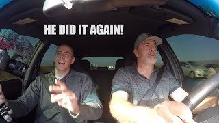 Dad Drives The New 600 WHP STI - Highway Pulls