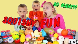 Cutting Open Our Squishy Collection || Opening Surprise Squishy Toys